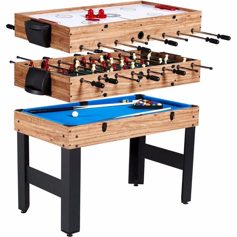 Billiards Foosball Air Hockey Pool Combo Multi Game Table 48 3 In 1 Indoor Multi Game Table Billiards Foosball Table