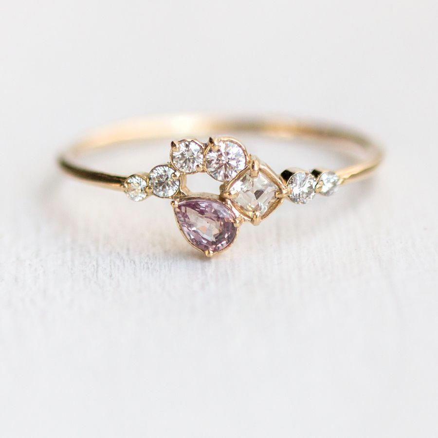 Unique Engagement Ring White Gold Oval Amethyst Engagement Ring