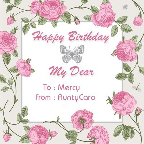 Create Custom Birthday Wishes Greeting Card With Name Birthday