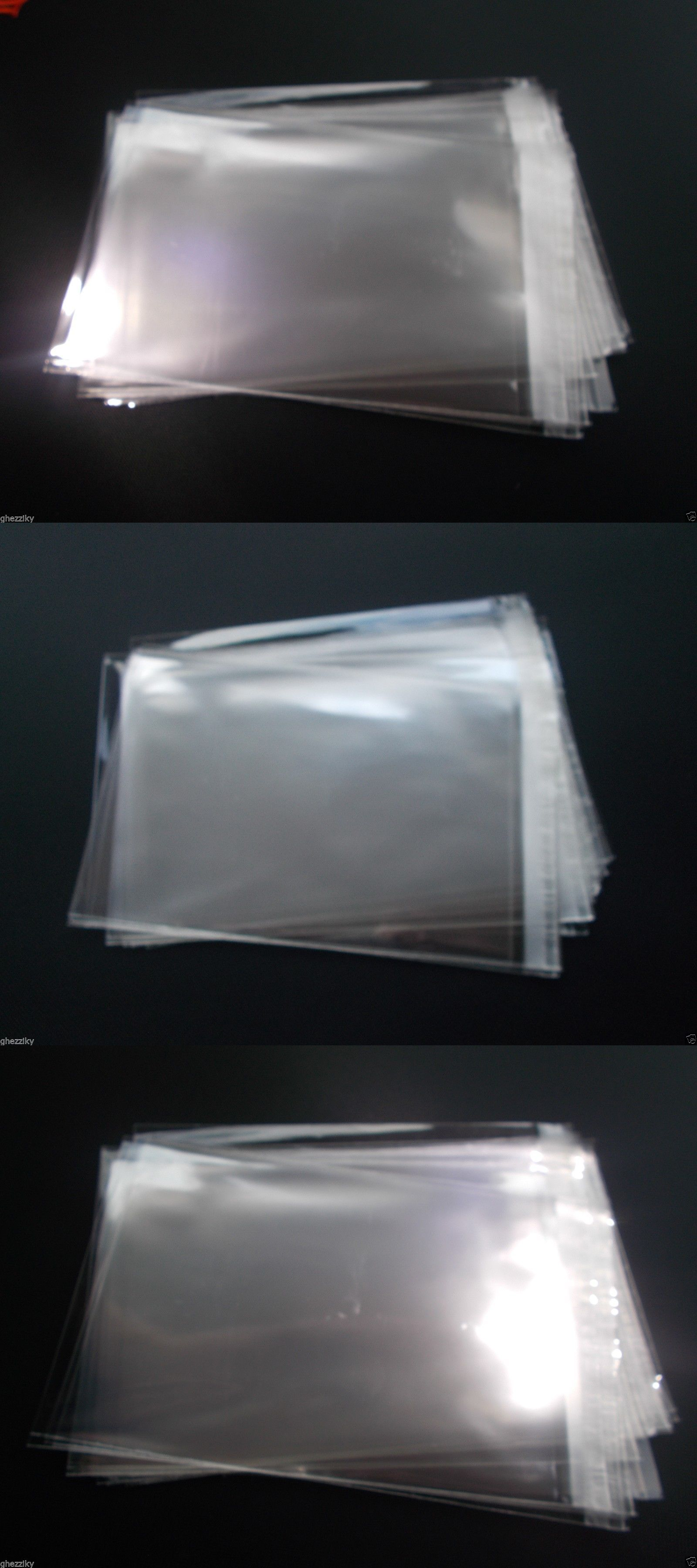50 Pack 12x16 Clear Resealable Self Adhesive Seal Cello Lip /& Tape Plastic bags