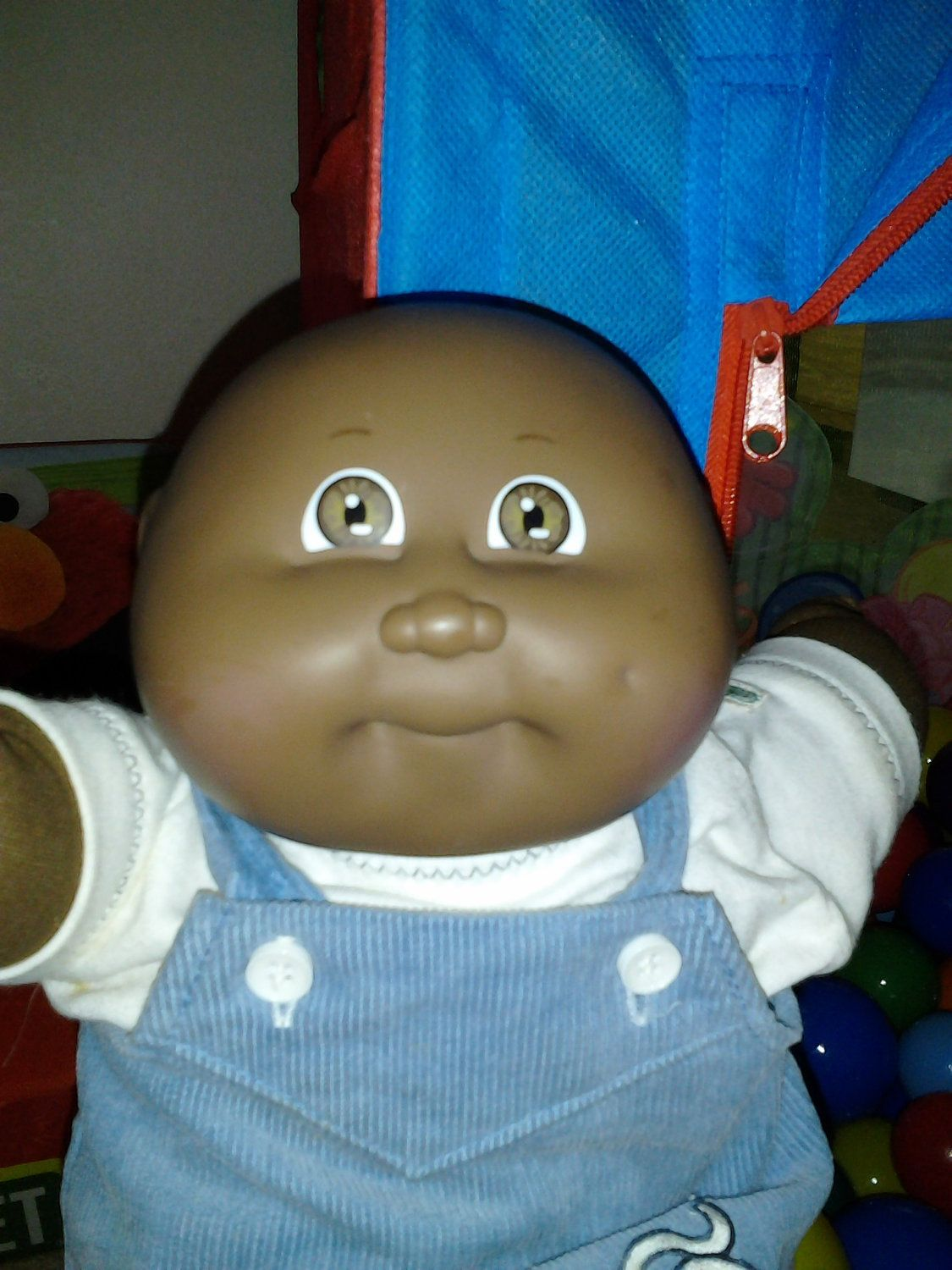 Vintage Cabbage Patch Kid Cpk African American Bald Coleco