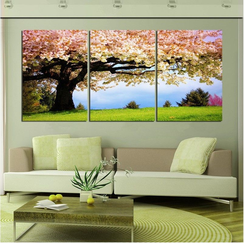 Env o gratis 3 unidades imagen de arte de pared gran rbol for Decoracion de paredes modernas