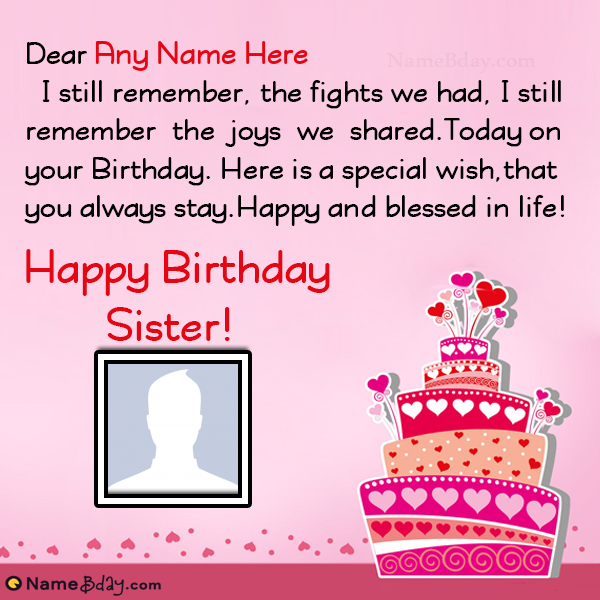 Happy Birthday To My Sister Wishes & Images Birthday