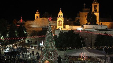 Bethlehem: Christmas crowds gather in town