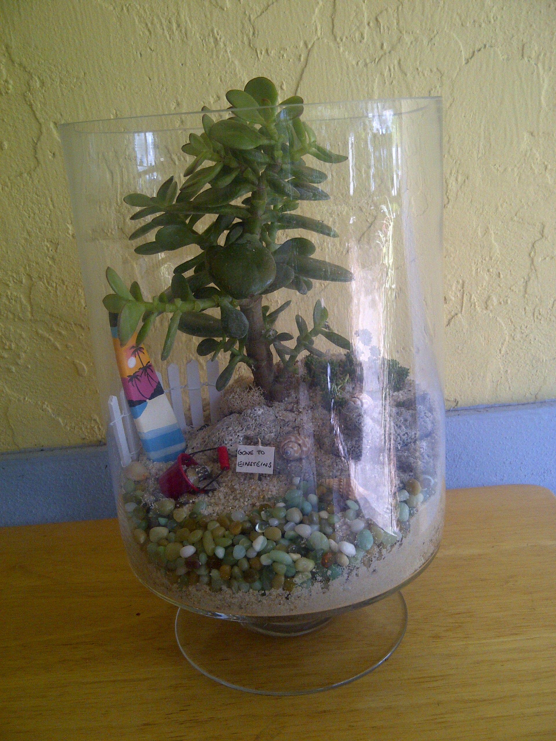 Fairy Garden...beach In A Glass Jar :)