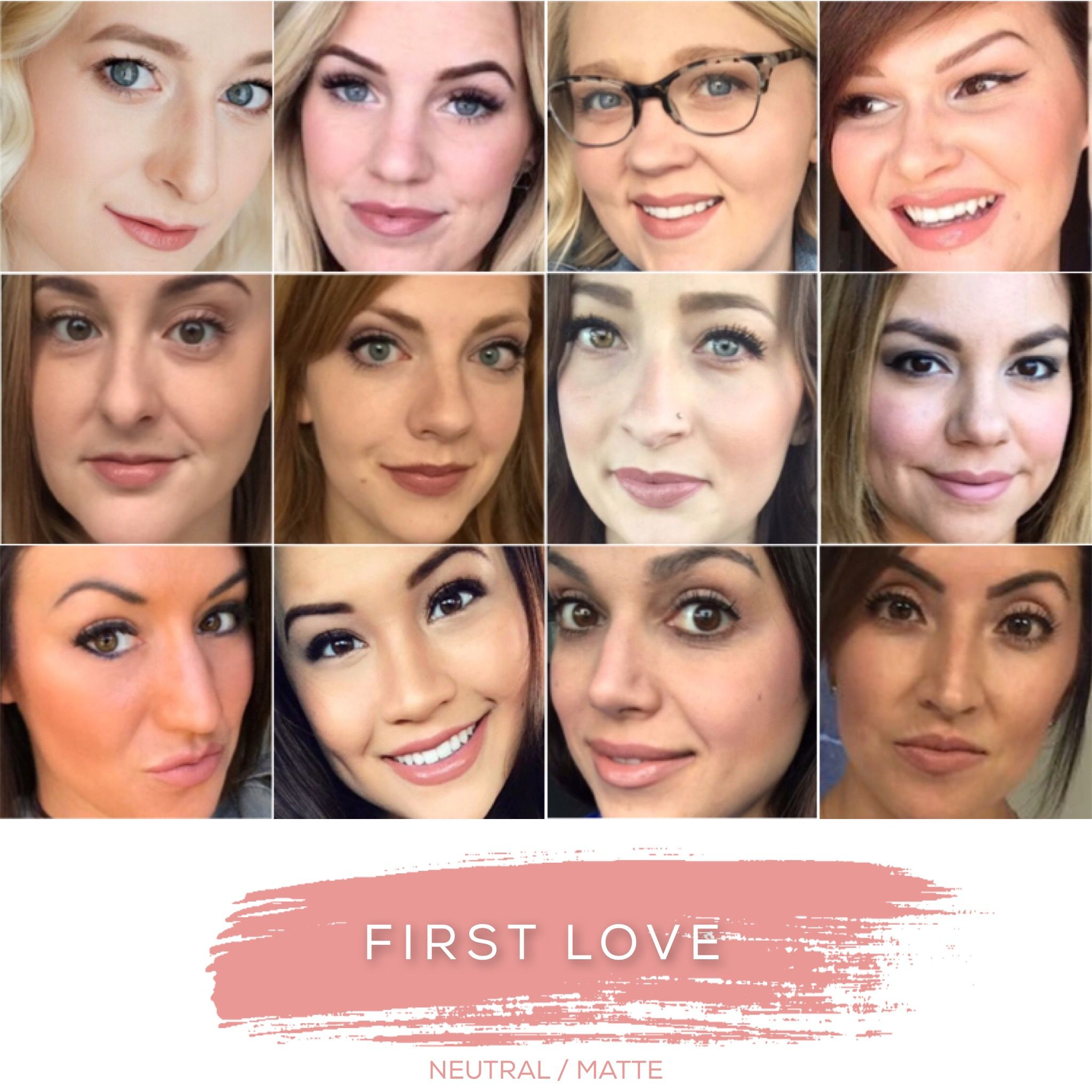 First Love - Matte, nude-pink.  LipSense lip color is unlike conventional lipstick!  LipSense's patented long-lasting, smudge proof, budge proof, waterproof formula will leave you with flawless lips for 4 – 18 hours!  It is a must have in any woman's make-up/cosmetic bag. LipSense is available in matte, shimmer, or frost finishes and over 36 beautiful colors.