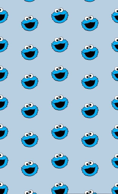 Imagen De Blue Eyes And Elmo Cookie Monster Wallpaper Iphone Wallpaper Pattern Wallpaper Iphone Cute