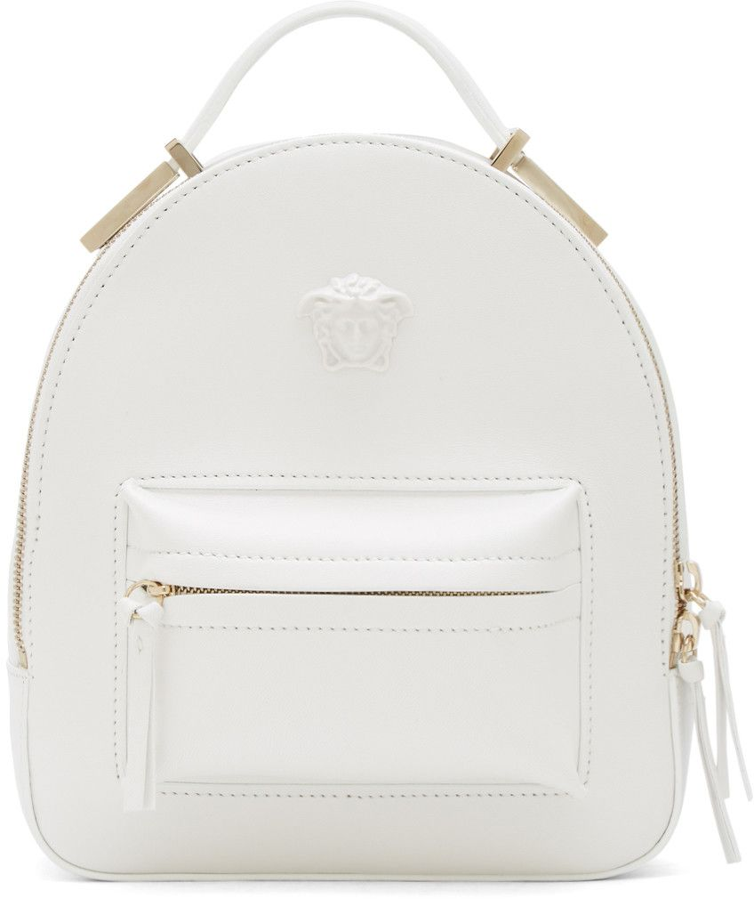 5a24865f7bde Versace - White Mini Medusa Backpack
