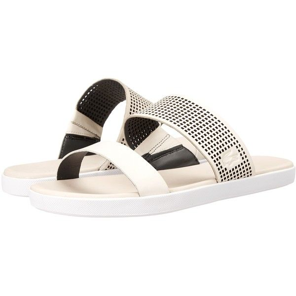 Lacoste Natoy Slide 216 1 (Off-White/Black) Women's Slide Shoes (