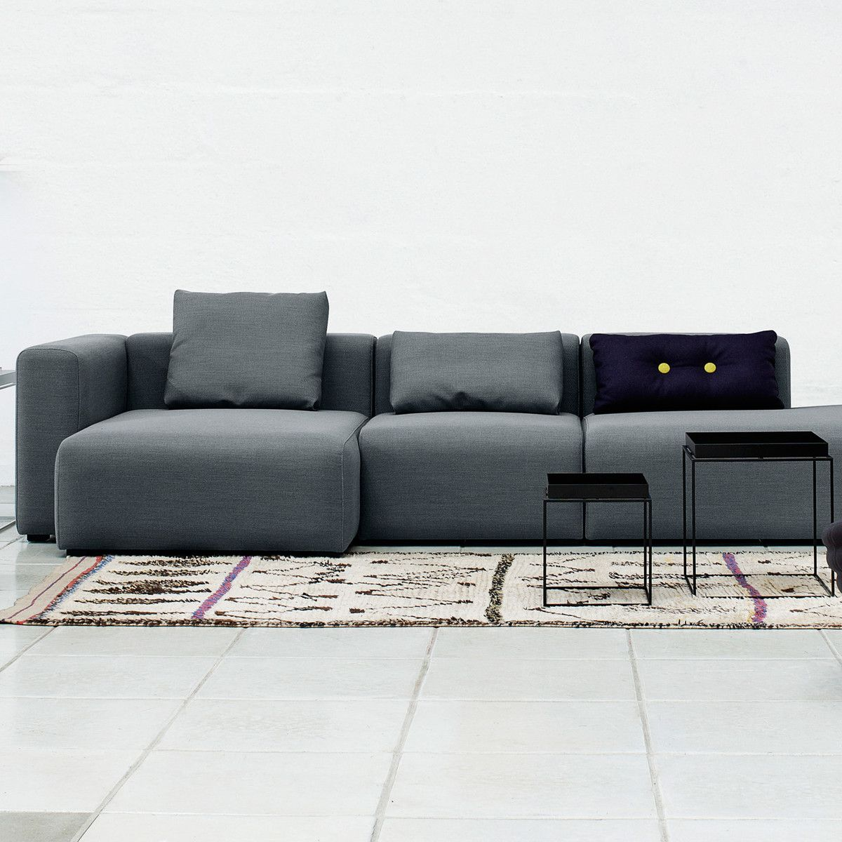 Hay Kissen Mags Cushion 9 Hellgrau Hallingdal 130 Couch