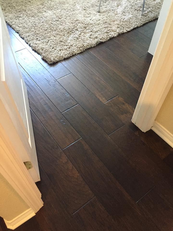 Beautiful Dark Brown Hickory Engineered Wood Floors Dark Brown