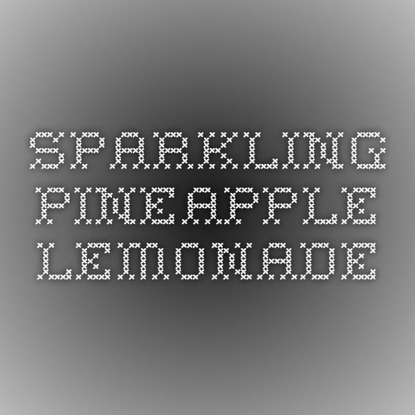 Sparkling Pineapple Lemonade #pineapplelemonade
