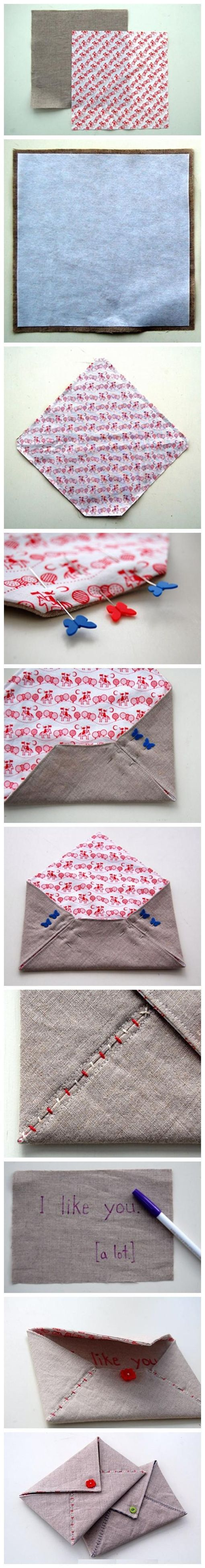 envelope handbag, I guess could be a throw cushion, too