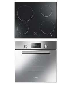 Candy Acom609xm Ch64c Built In Fan Oven Ceramic Hob Exp Del Ceramic Hobs Multifunction Ovens Built In Ovens