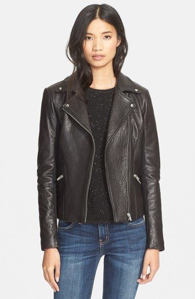 Veda 'Dallas' Lambskin Leather Jacket