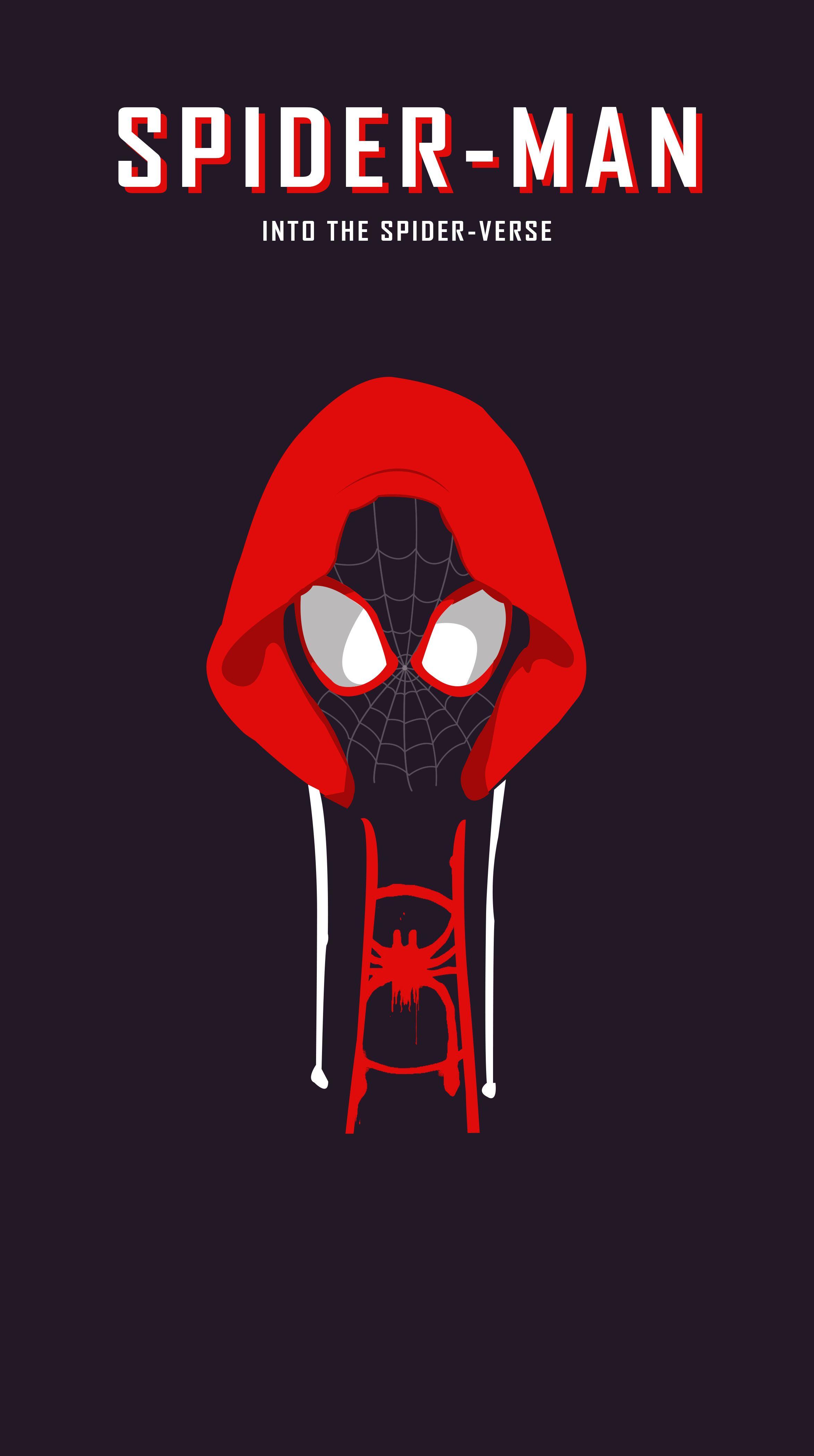 Spider Man Into The Verse Spiderman Minimaldesign