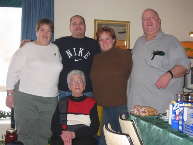 This is my family  LtoR...Janice,John,Brenda,Myself(Edward) and Alice( my mom now deceased}