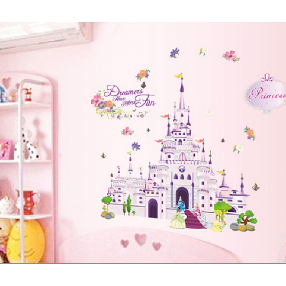 Jual Disney Princess Castle Wall Sticker Stiker Dinding