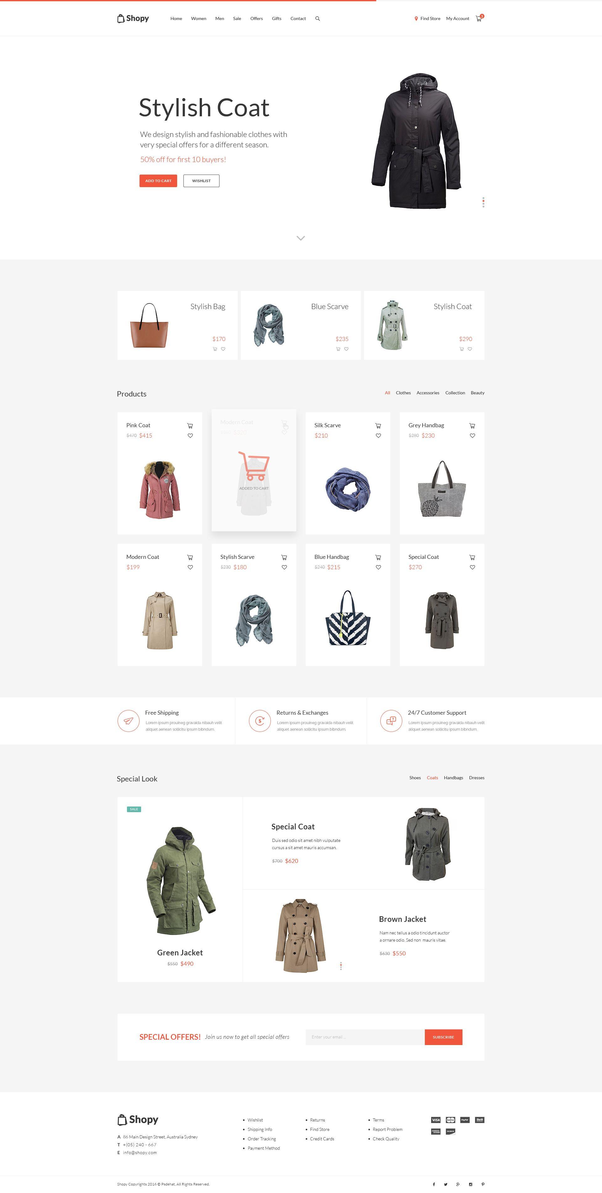 Online Shop PSD Template