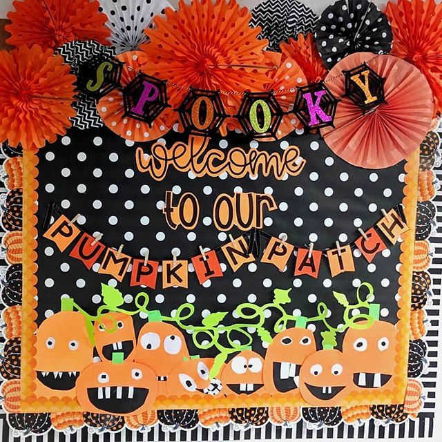 Happy HalloweenNothing says Halloween like a cute pumpkin patch bulletin board thank you @simply_sprout for sharing! . . . #creativeteachingpress #happyhalloween #halloween #pumpkins #pumpkinpatch #spooky #borders #bulletinboardideas #classroom #classroomdecor #teachers #teachersfollowteachers #teachersofinstagram #teacherlife #teacherstyle #teachersfollowteachers #teachersofinstagram #teachersofig #teacher #teaching #backtoschool #classroomideas #school #education #lifeofateacher #learning #ite #pumpkinpatchbulletinboard