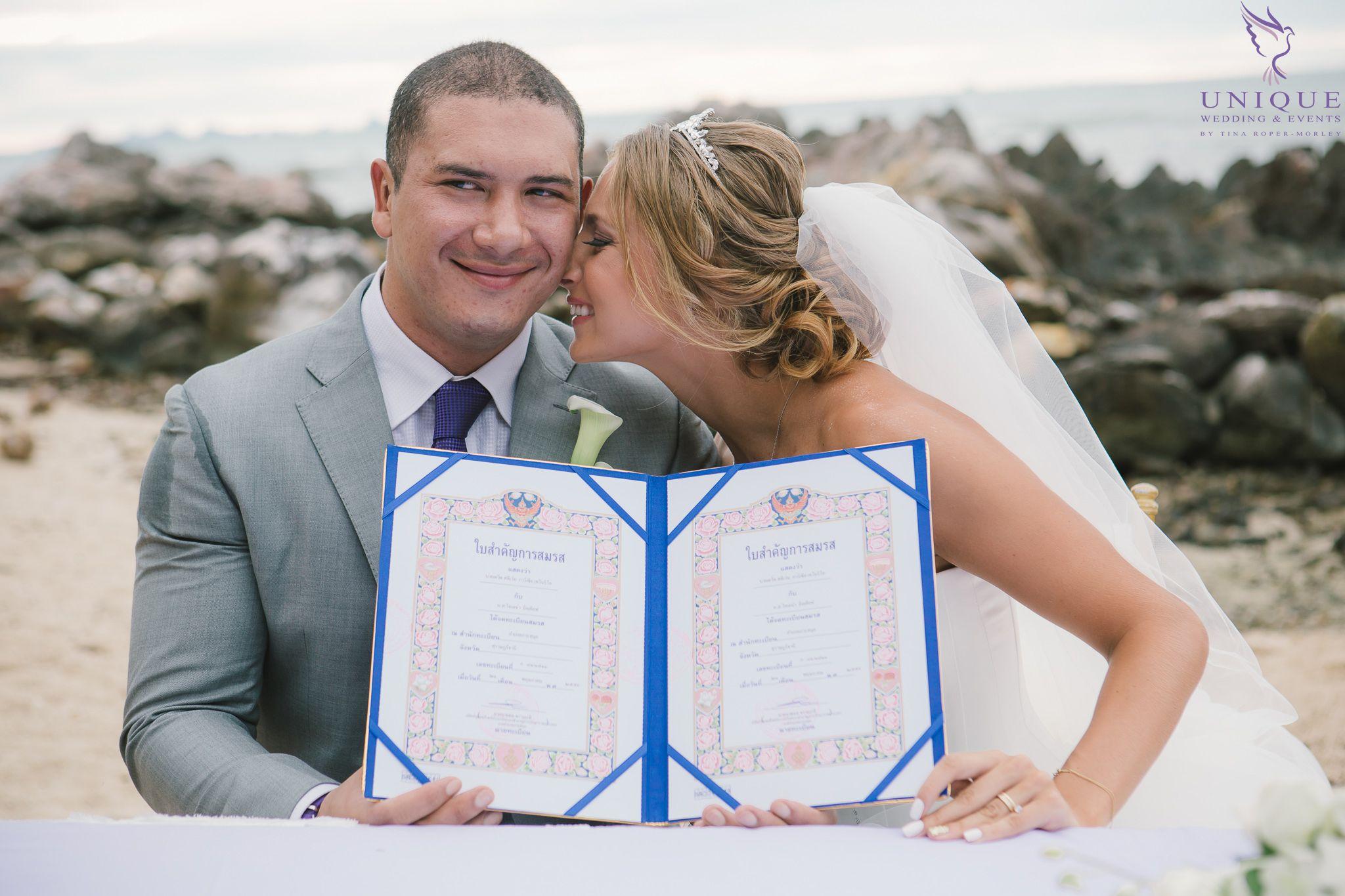 The legal wedding in Thailand