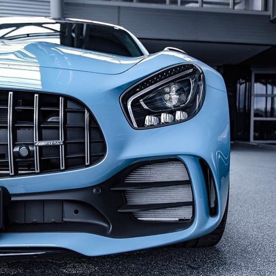 Beautiful Sky Blue Mercedes AMG High-end Luxury Sport Cars