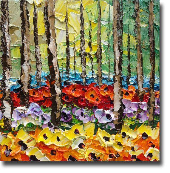 B. Sasik Original Oil Painting Mistic Woods ART by bsasik on Etsy