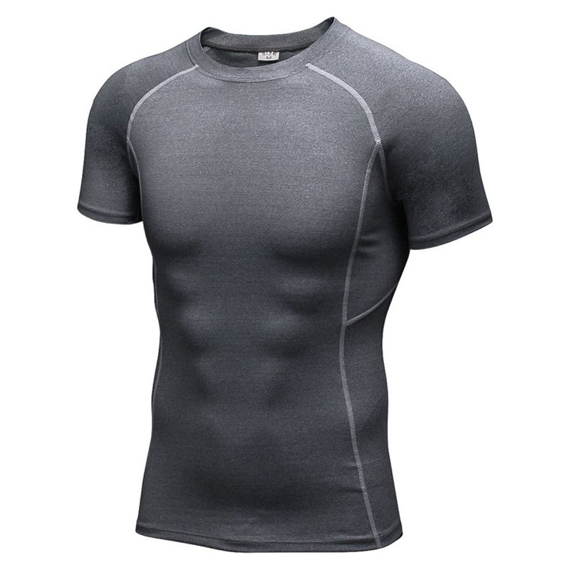 T-shirt Men Compression Quick Dry Sports Shirts Running Gym Fitness Workout Tops