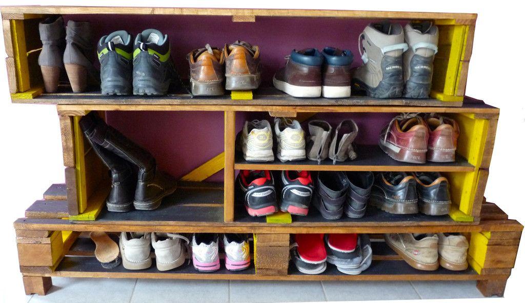 modèle meuble chaussures palette activités manuelles Pinterest