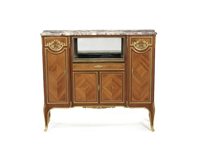 A French Late 19th Century Ormolu Mounted Satine And Amaranth Meuble A Hauteur D Appui By Krieger Paris French Furniture Furniture Liquor Cabinet