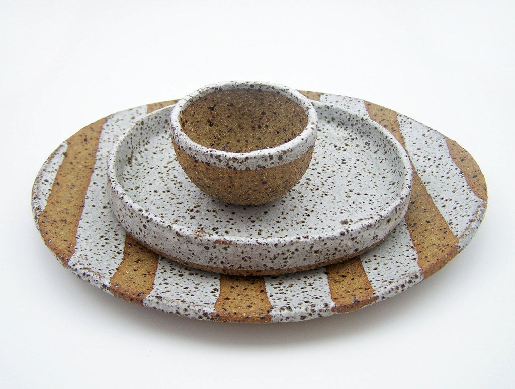 Rustic Serving Set Stoneware Tapas Plates By Susansimonini  # Magasins Fly A Colmac