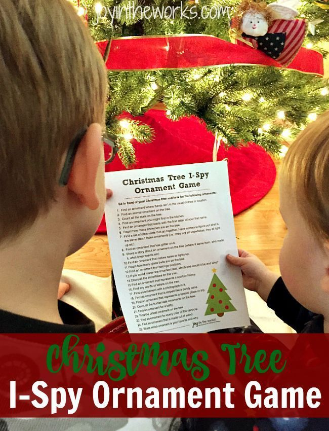 Christmas Tree I-Spy Ornament Game (With images ...