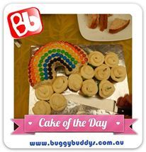 Rainbow Birthday Cake. For kids party ideas in Perth, WA see the Buggybuddys website http://www.buggybuddys.com.au/kids_party_perth.html