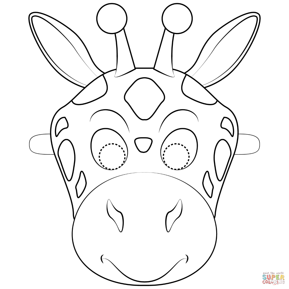 Giraffe Mask Coloring Page Free Printable Coloring Pages Printable Coloring Masks Animal Masks For Kids Printable Animal Masks