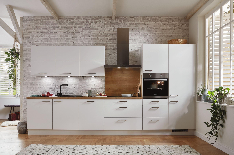 Set aus nobilia Hochschrank inkl. Auszüge & Leonard Einbaubackofen LBN1113X  in Schwarz | Nobilia küchen, Küche block, Einbauküche