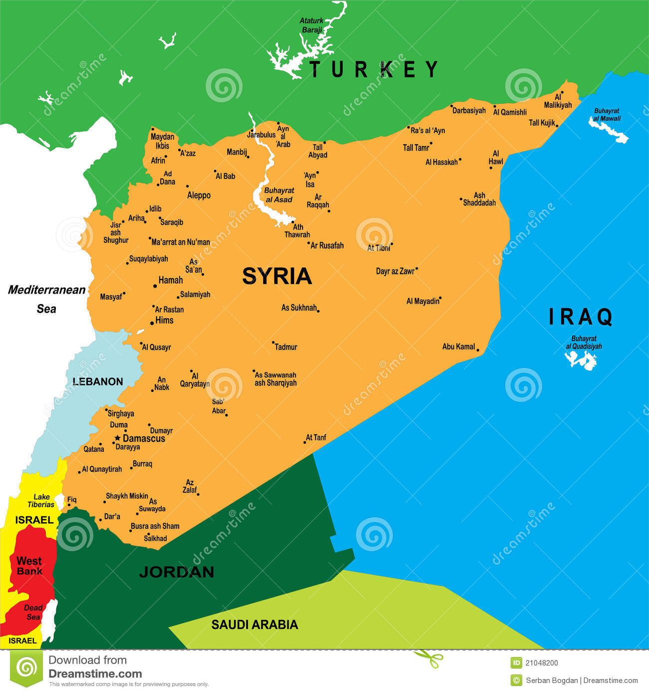 map of syria Political map of Syria with main cities Maps