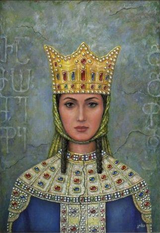 Tamar the Great of Georgia. (1160-1213). Queen Regnant of Georgia ...