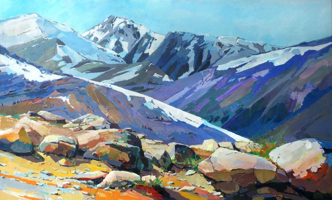 Rocks And Ridges 36x60 Abstract Landscape Painting Landscape Art Art