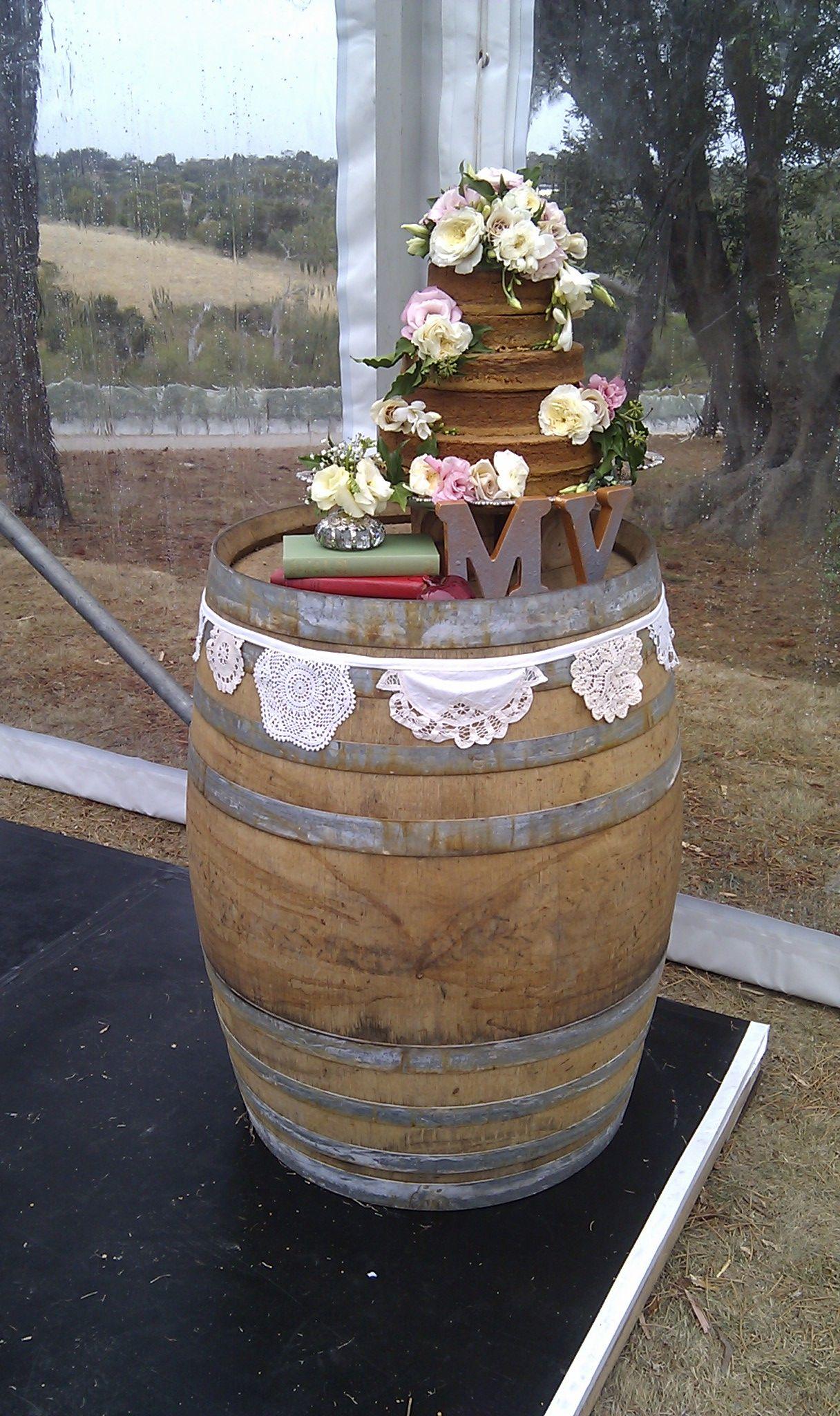 The Wedding Cake Stand - Wine Barrel - Traditional Sri Lankan Love Cake