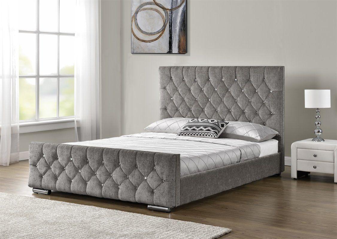 Ararat Upholstered Bed Frame Upholstered Bed Frame Fabric Bed
