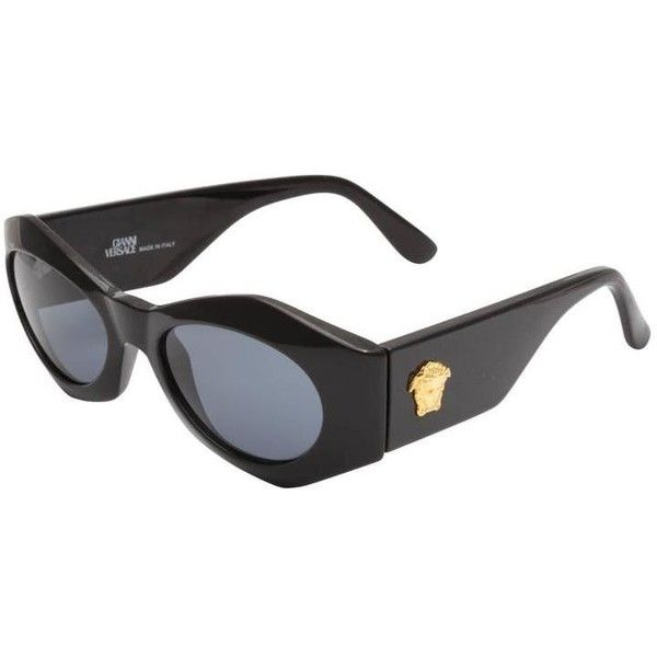 af55f9b272 Preowned Gianni Versace Sunglasses Mod 422 Col 852 (960 NZD) ❤ liked on  Polyvore featuring sunglasses and black