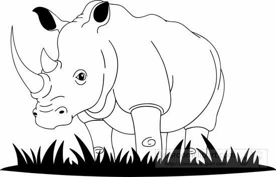 Animals Black And White Animal Outline Clip Art