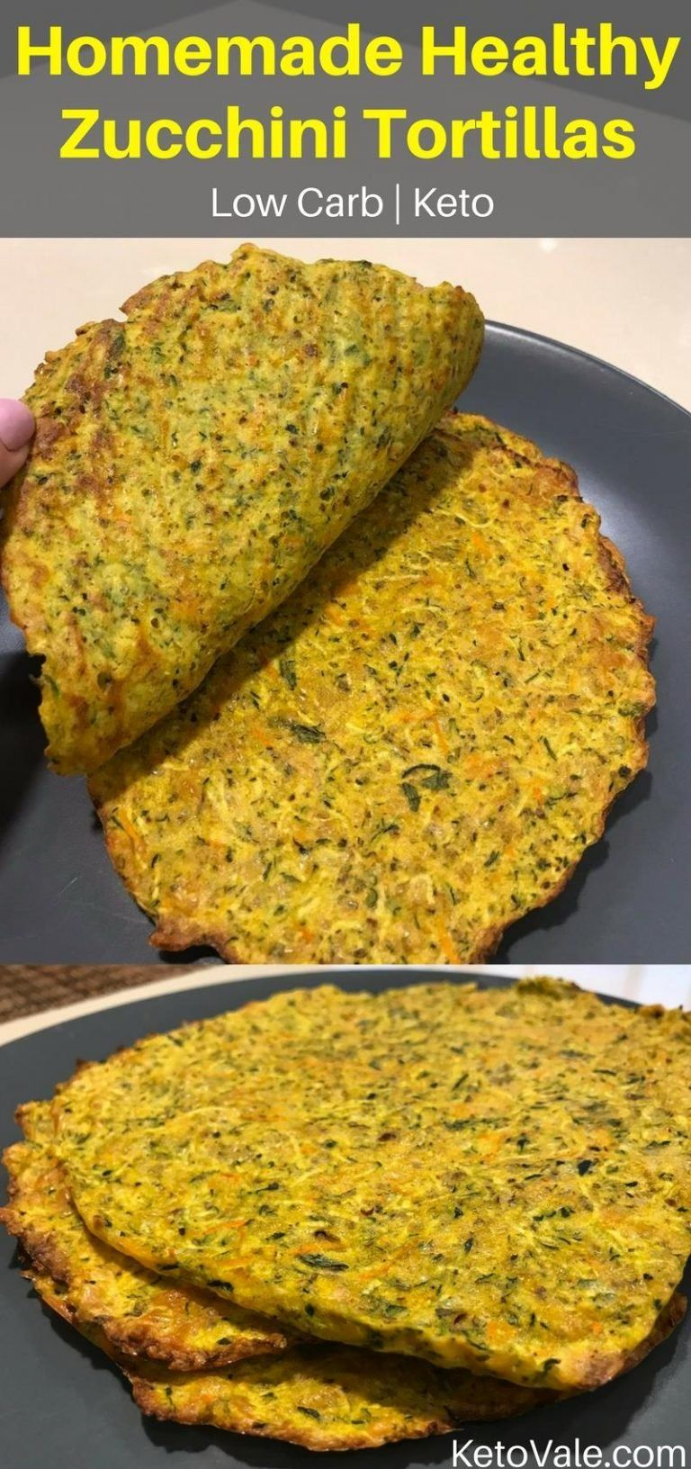 Easy chewy zucchini tortillas low carb glutenfree recipe