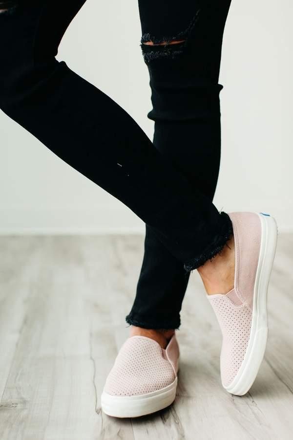 Keds Double Decker Perf Suede Sneaker