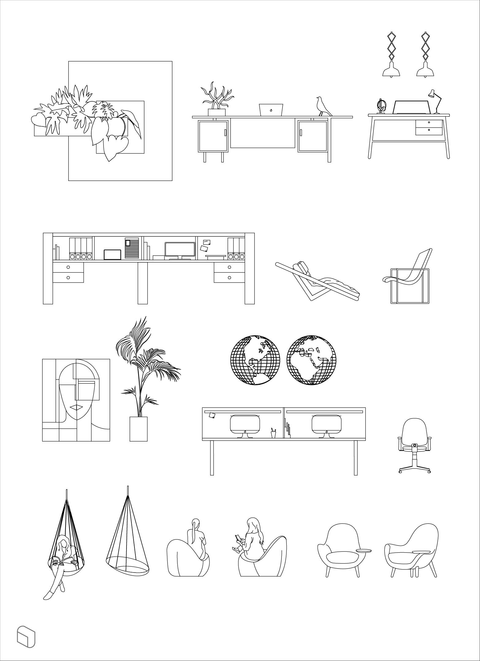 Dwg Contemporary Furnitures Interior Design Renderings Interior Design Drawings Interior Design Sketches
