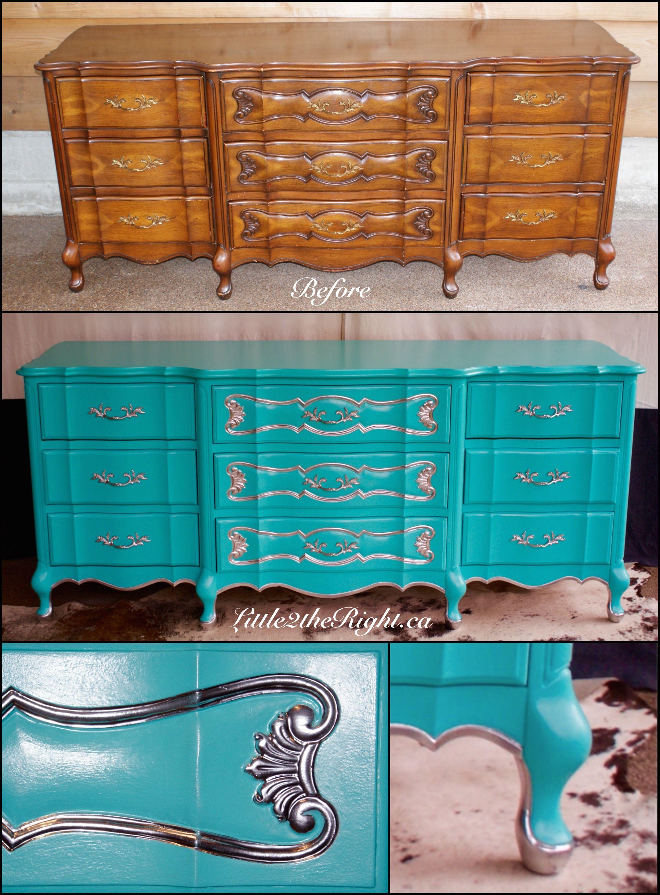 Before & After Vintage French Provincial dresser in ...