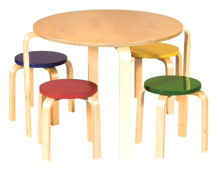 Guide Craft Childrens Classroom Nordic Table And Colored Chairs Set Round Table And Chairs Kids Table Chair Set Table And Chair Sets