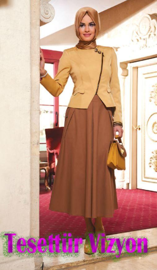 Ipekdal 2014 Modelleri Tesettur Vizyon Elbiseler Giyim Etek