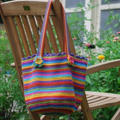 Tasche | Garten | Pinterest | Körbchen häkeln, Häkeln und Häkelanleitung