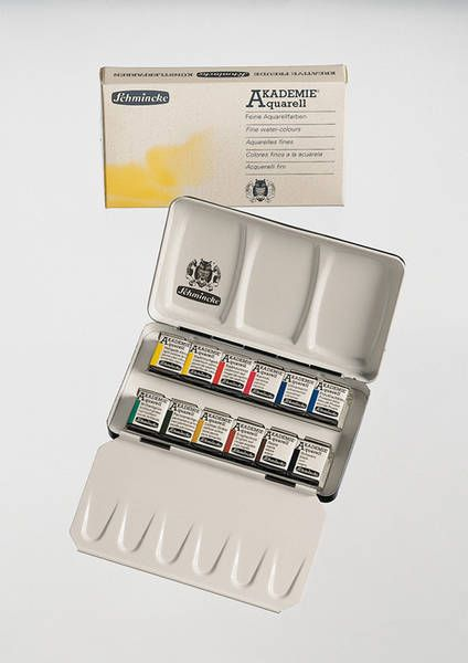 Schmincke Akademie Artists Quality Watercolour Paints 12 Half